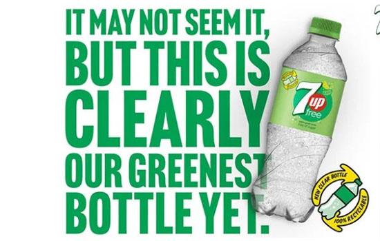 7UP переходить на прозорі пластикові пляшки