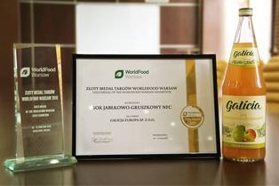 Сок «Яблочно-грушевый» под ТМ Galicia получил золотую медаль на выставке WorldFood Warsaw 2018