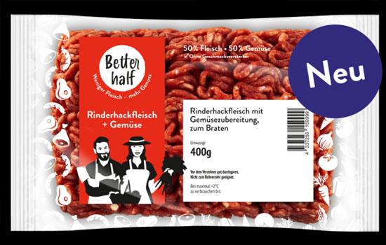 """REWE презентувала м'ясні продукти """"Better Half"""" з 50% вмістом овочів"""