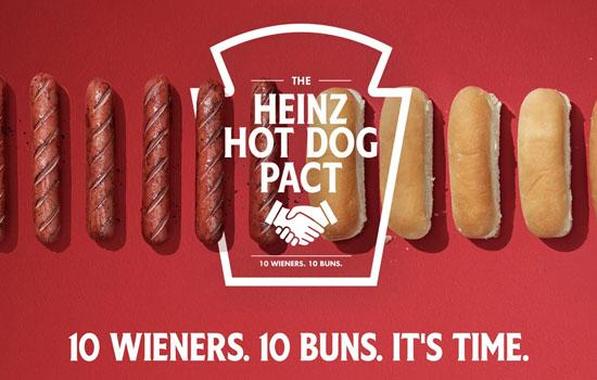 Heinz виступила за однакову кількість булочок і сосисок для хот-догів в упаковках