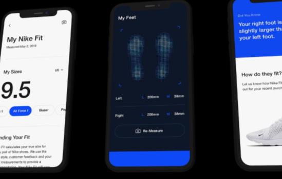 Новое приложение Nike поможет определить размер обуви