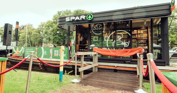 Магазин SPAR плавав по Нідерландам