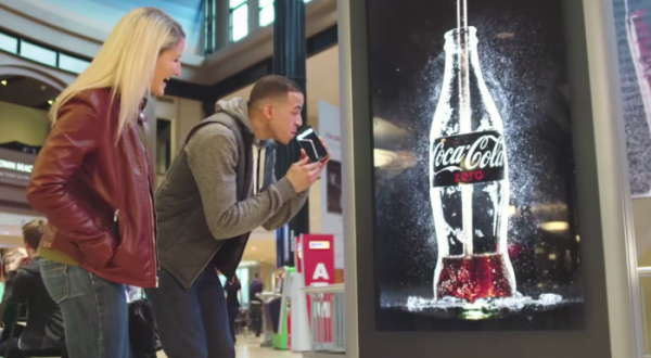 Бренд Coke Zero выпустил наружную рекламу которую можно пить